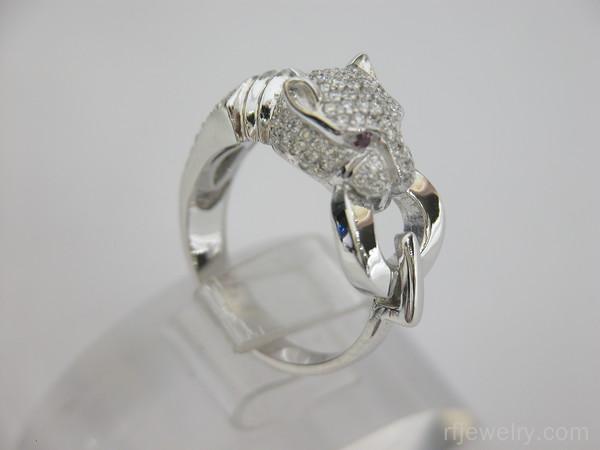 انگشتر جواهر یاقوت قرمز - کد 9401